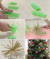 ideas diy plastic straw ornaments