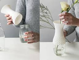 Beautiful Vases Upcycle Boring Glass Jars Into Beautiful Vases With Lace Vase