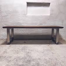 U Shaped Table Legs U Shaped Stainless Steel Legs Oak Dining Table Cosywood Co Uk