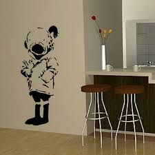 large wall sticker banksy diver girl life size bedroom art uk large wall sticker banksy diver girl life size bedroom art uk transfer decal black wall sticker nursery wall sticker in wall stickers from home garden on