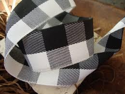 and black plaid ribbon black and white buffalo plaid ribbon from ribbonsweets on etsy studio