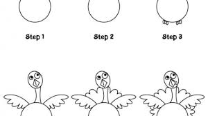 how to draw a turkey drawing pencil