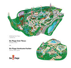 Six Flags Hurricane Harbor Texas Coupons Six Flags Park Maps Illustration On Behance