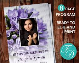 paper for funeral programs 51 best pink funeral program templates images on