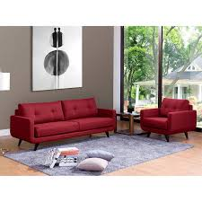 Fabric Sofa Sets by Geffen 2 Piece Fabric Sofa Set Red