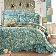 teal green floral retro artsy comforter sets queen size obd081639