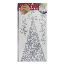 wilko christmas wall sticker tree silver at wilko com wilko christmas wall sticker tree silver
