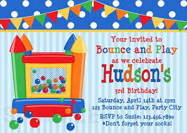 printable birthday invitations bounce house inflatable party