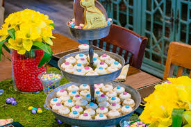 Outside Easter Decor Dazzling Garden Party For Easter Centerpiece Design Inspiration
