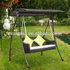 Patio Swing Chair by 2017 Rattan Swing Chair Garden Patio Swinging Hammock Bench Seat