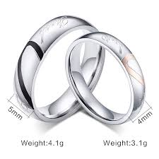 mens stainless steel wedding bands 2017 new fashion heart ring wedding rings stainless steel