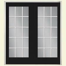 french doors with blinds between the glass 71 x 80 patio doors exterior doors the home depot
