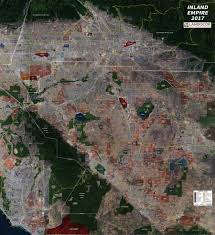 inland empire aerial wall mural landiscor real estate mapping wall map mural inland empire