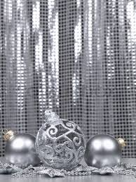 decorations on a silver background stock photo
