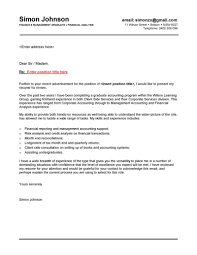 ideas collection sample cover letter for director of finance