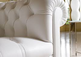 White Leather Chesterfield Sofa by Chesterfield Sofa Fabric Leather 3 Seater Devon Berto