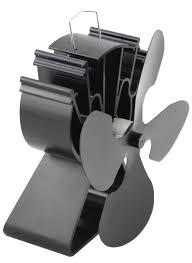 amazon com 4 blade heat powered stove fan for wood log burner
