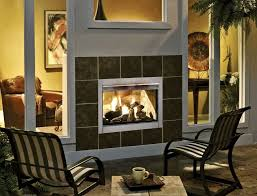 home decoration two sided indoor and outdoor fireplace