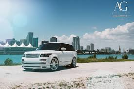 land rover range rover white ag luxury wheels range rover forged wheels