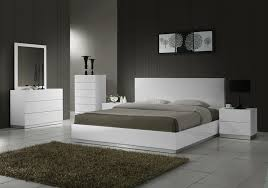 Bedroom Arctic Modern White Leather Bed With Speakers And Iphone - White leather contemporary bedroom furniture