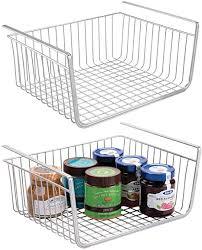 how to organize open kitchen cabinets mdesign household metal shelf hanging storage bin basket with open front for organizing kitchen cabinets cupboards pantries shelves large