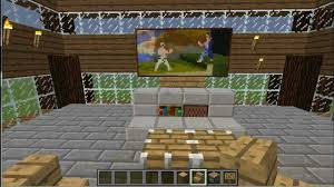 minecraft tutorial build a t v and basic living room youtube