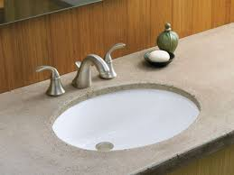 Undermount Bathroom Sink With Faucet Holes by Marvelous Changing Bathroom Sink Fixtures Using Oval Undermount