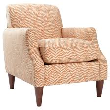 Geometric Accent Chair Beige Tufted Leather Accent Chair Design With Varnished Wood Arm