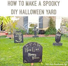 How To Make A Haunted Maze In Your Backyard How To Make A Spooky Diy Halloween Yard Dear Handmade Life