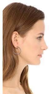 whisper earrings michael kors medium whisper hoop earrings shopbop