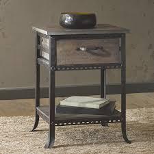 black metal nightstand an old metal nightstand home design by regarding wrought iron and wood nightstands jpg