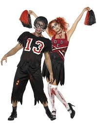 Halloween Costume Football Player Zombie American Football Player Cheerleader Couple