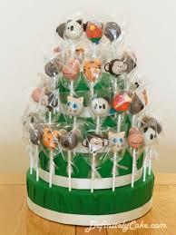 zoo animal cake pop display cake by definitely cake cakesdecor