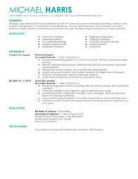 financial resume examples manager resume example financial