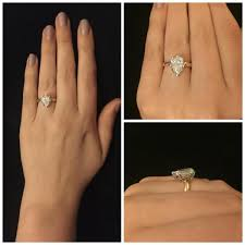 pear shaped gold engagement rings real engagement rings pear marquise diamonds weddingbee