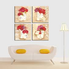 aliexpress com buy 4 panel canvas painting flowers and vases