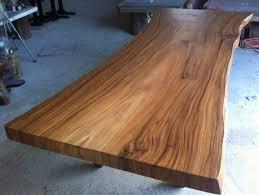 Acacia Table Live Edge Dining Table Reclaimed Solid Slab Acacia Wood