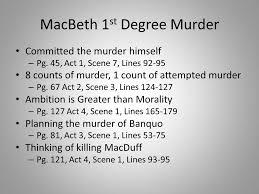 themes of macbeth act 2 scene 1 macbeth 1st degree murder ppt video online download
