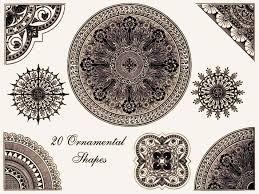 ornamental shapes brush pack by sya on deviantart