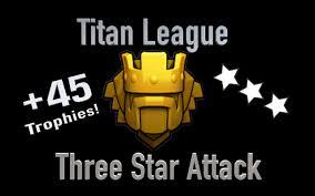 coc wallpaper clash of clans titan league three star attack youtube