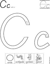 letter c worksheet for handwriting intervention