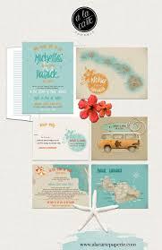 wedding invitations hawaii hawaii wedding invitation wedding retro surfboard
