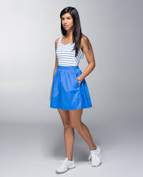 lululemon club dress deauville stripe pipe dream blue white
