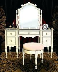 vanity table with lighted mirror and bench makeup vanity table with lighted mirror freeiam