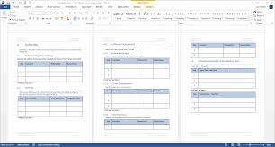 availability plan template instant download