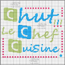 canalblog cuisine cuisine kitchen chef point de croix cross stitch broderie