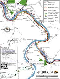 Pittsburgh Pennsylvania Map by Great Allegheny Passage U2013 Pittsburgh Southside Pa To Mckeesport Pa