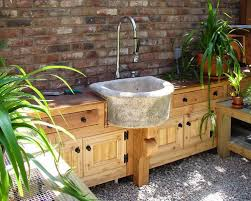 Outdoor Kitchen Decorative Stone For Outdoor Kitchen Island Ideas - Outdoor kitchen sink cabinet