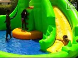 Best Backyard Water Slides The Best Inflatable Water Slide Youtube