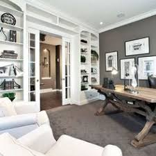 Home Office Design Pictures Wall Of Bookcases Around Doorway Makes A Huge Difference Home
